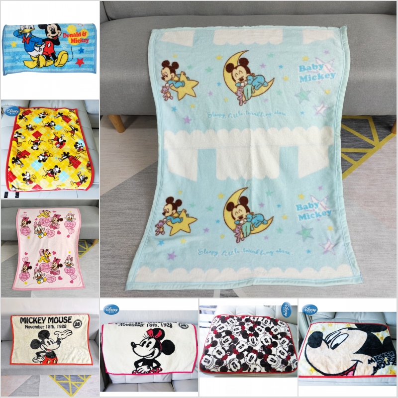 Disney Cartoon Mickey Minnie Mouse Tangled Kids Blankets Throw 70x100cm Small Blanket For Baby Child On Bed Crib Plane Car