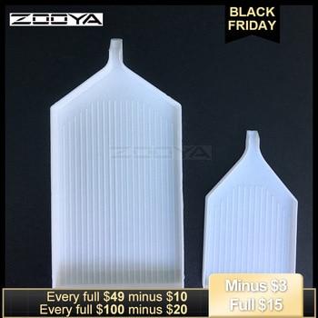 Bandeja blanca de diamantes ZOOYA, joyería de diamantes bordado artesanía, herramienta de almacenamiento de pastillas BKT02