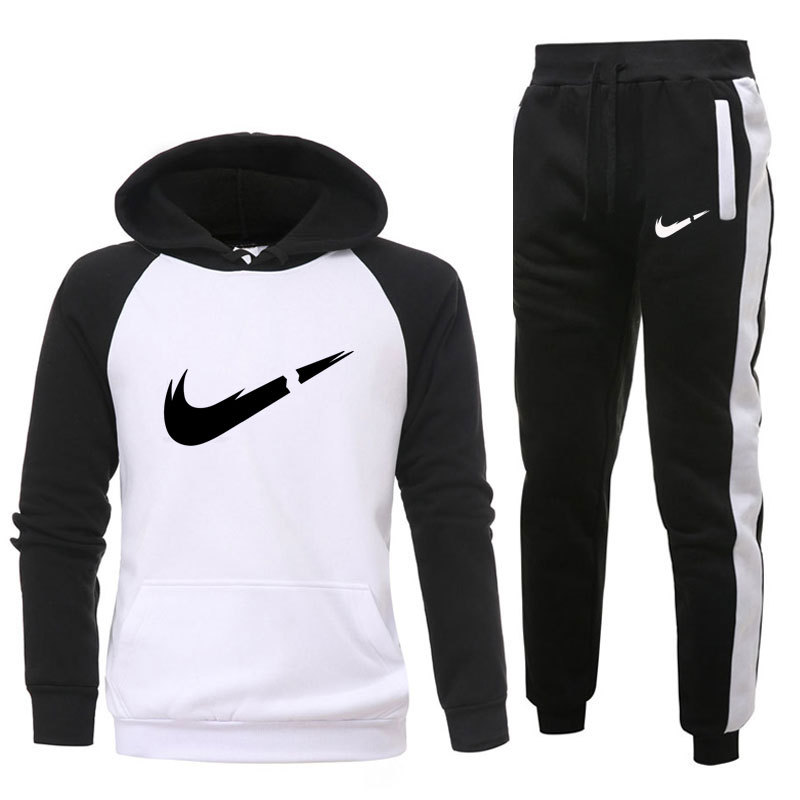 2019 New Hot Brand Men's Pullover Hooded Autumn/Winter Men's Sets Hoodies +sweatpants Two Pieces Set Bodybuilding Tracksuit