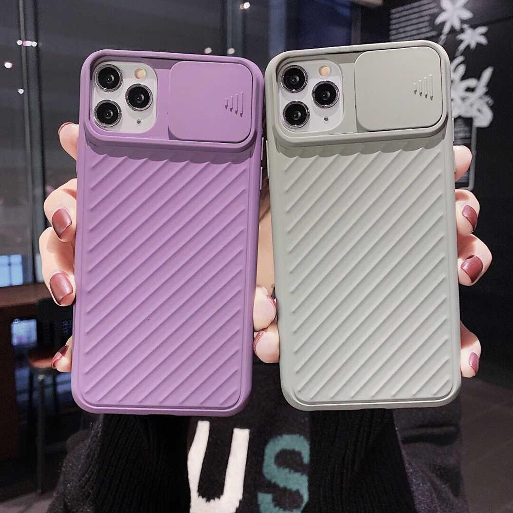 GHAOK กล้องโทรศัพท์สำหรับ iPhone 11 PRO MAX XR X XS MAX 7 8 6 Plus SOLID สี Soft TPU COVER