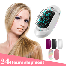 New Version Ionic Hairbrush Potable Negative Ions Electric Massage Anti-static Hair Brush Comb Styling Tools