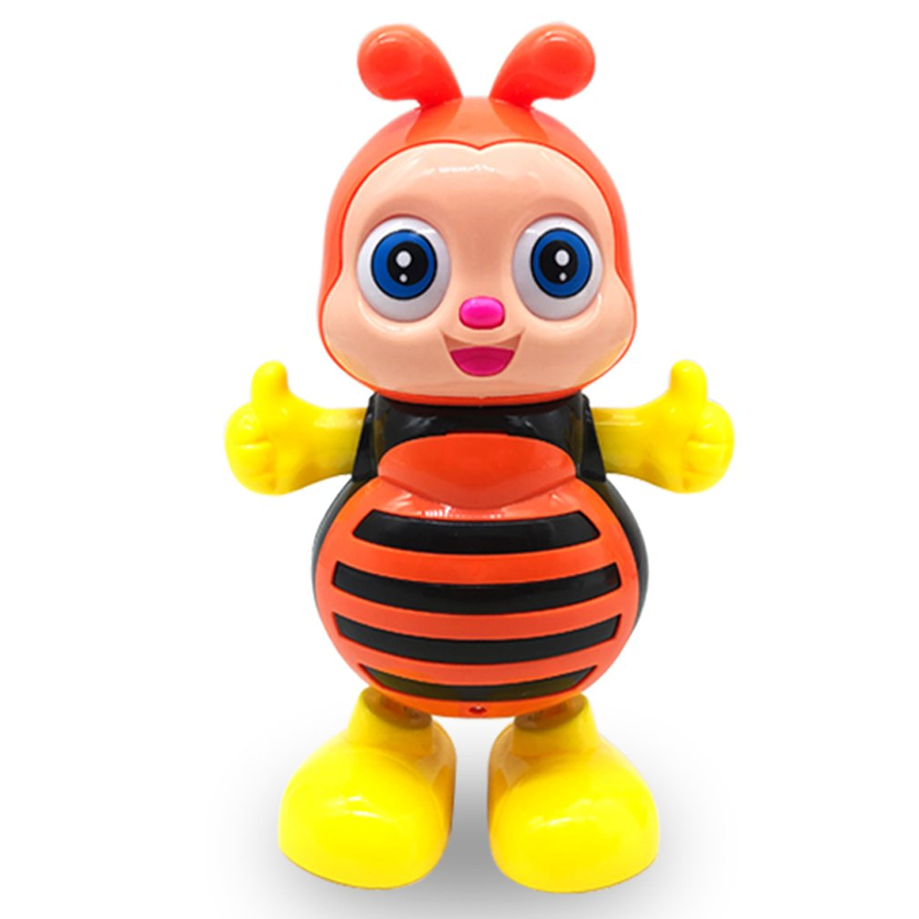 Electric Musical Dancing Bee Cartoon Robot LED Flashing Light Sing Dance Intelligent Interactive Gift Electronic Pets Music Toy