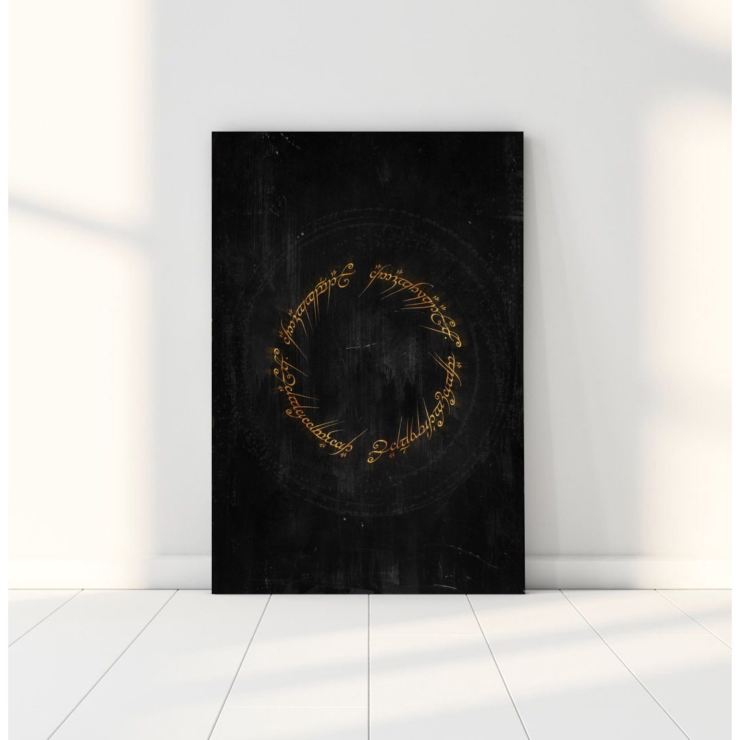 Lord of the Rings LOTR poster classic movie poster Canvas Art Print Wall Pictures for Living Room No Frame image