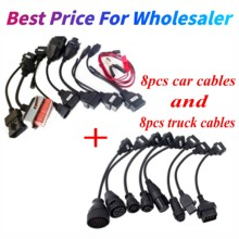 Full Set 8 pcs Car Cables 8pcs&Truck Cables for vd tcs cdp plus MVD Cables for delphis vd ds150e cdp for car&truck