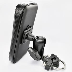 Image 4 - Motorcycle Cell Phone Mount Holder with Waterproof Zipper Case Handlebar Rail Mount Holder Case for iPhone 7/X, Galaxy S9 Plus