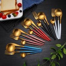 Полная посуда набор столовый золотой посуды Нержавеющаясталь
