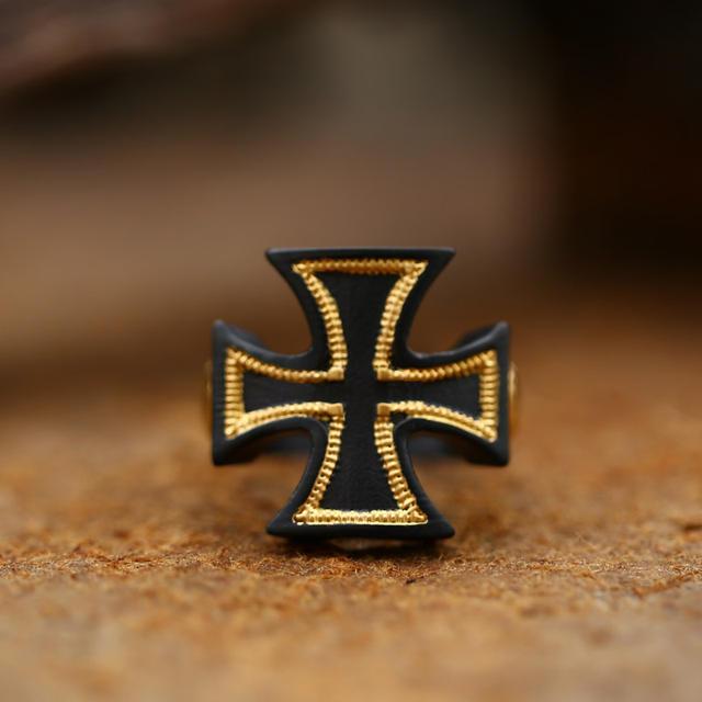 WORLD WAR II IRON CROSS SKULL RINGS