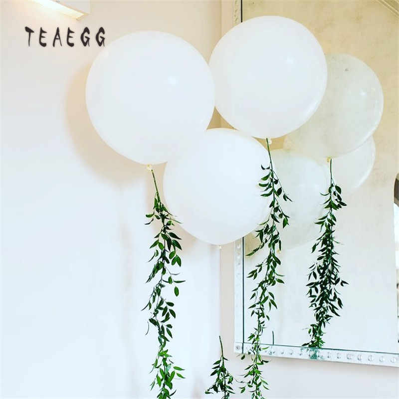 30pcs 5'' White Round Balloons Anniversary Wedding Party Balloon Macaron Baloes Arch Backdrop Photography Decoration Baby Shower