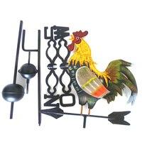 Metall Wetterfahne mit Rooster Ornament Hahn Weathervanes Garten Terrasse Decor DTT88|Glockenspiel|Heim und Garten -