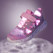 Sneakers Girl Gym Shoes Kids Autumn Running Shoes Girls Mesh Sport Shoes Pink Cute Walk Sandals Tennis Shoes Flat Baby Summer