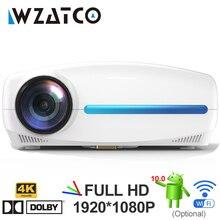 Светодиодный проектор WZATCO C2 4K Full HD 1080P, на базе Android 10, Wi Fi, для умного домашнего кинотеатра, видеопроектор с диагональю 200 дюйма, с цифровым 4d keyston