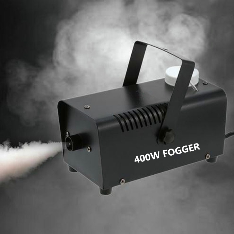400W Fog Machine For Halloween Party Wedding Stage Effect Wire Or Wireless Remote Control Mini Fog Machine Fogger Smoke Ejector