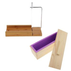 Wire-Slicer Soap-Cutter Wooden-Box Soap-Loaf-Mold Cake/chocolate-Making-Tools Silicone
