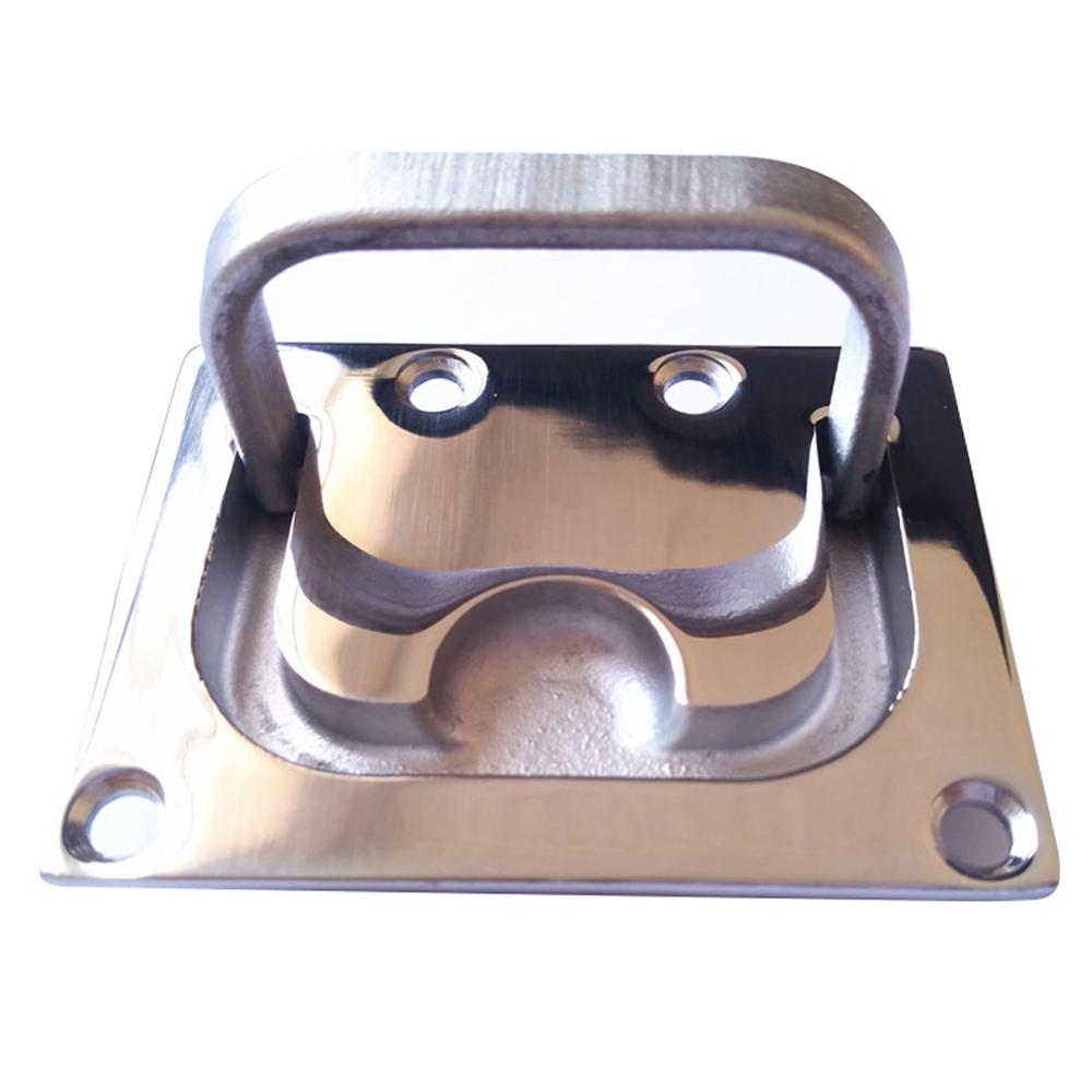Yacht Hatch Pull Deck Cover Handle Corrosion Resistant Lifting Stainless Steel Boat Hardware Accessory Locker Ring Floor Buckle