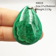 100% naturale Verde Malachite Chrysocolla Pendente di Donne Uomini Della Pietra Preziosa di Cristallo di Guarigione di Pietra Del Pendente Della Collana AAAAA