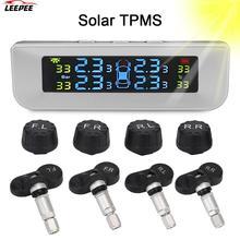 4pcs External/Interior Sensors Newest TPMS Tyre Pressure Monitoring System Solor USB Power Car Accessories Digital LCD Display