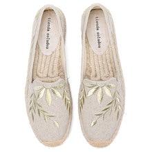 2020 Hot البيع ريال شقة منصة القنب المطاط الانزلاق على عادية الأزهار Zapatillas موهير ساباتوس المرأة رياضة قماشية حذاء مسطح