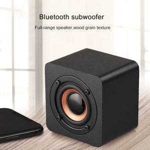 Image 3 - Wooden Bluetooth Mini Speaker 1200mAh High Power Wireless Subwoofer Portable Bass Column