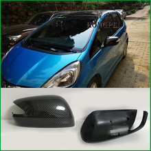 Exterior Rearview Mirror Cover Housing Case For HONDA FIT JAZZ 2009 2010 2011 2012 2013 GE6 GE8 Rearview Mirror Cover Shell