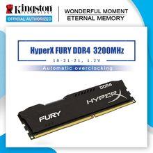 Kingston HyperX FURY memoria ram ddr4 8gb 16GB 32gb 2666MHz 3200MHz 3600MHz DIMM memoria interna 2400MHz 4g ddr4 RAM de escritorio