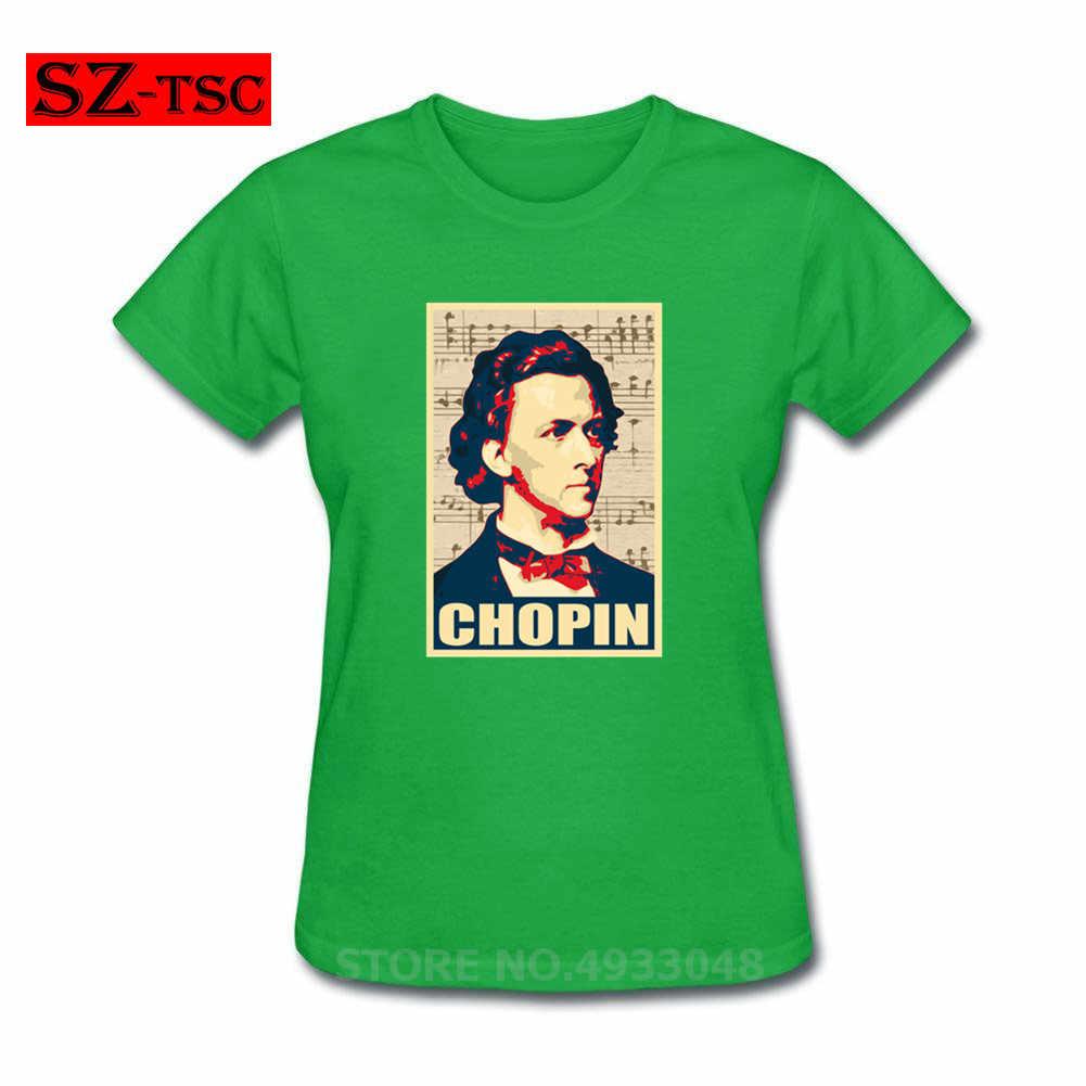 Kompozytor muzyki chopina plakat T Shirt miłośnicy muzyki fortepianowej T-shirt polski poeta polska muzyk kobiety geniusz portret T-shirt w rozmiarze xxxl