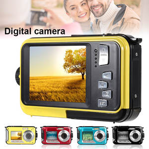 48MP Underwater Waterproof Digital Camera Dual Screen Video Camcorder Point and Shoots Digital Camera DQ-Drop