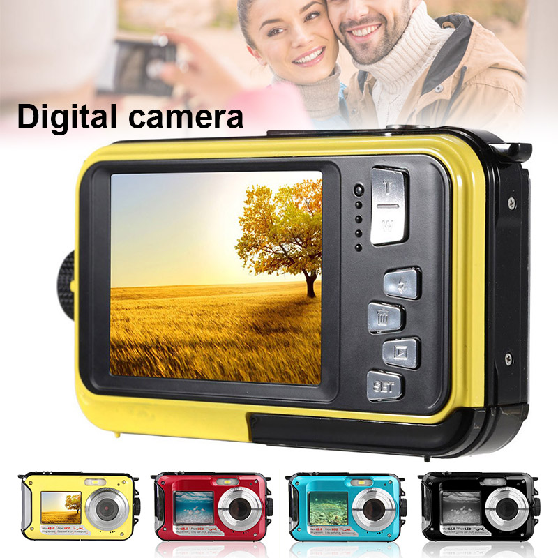 48MP Underwater Waterproof Digital Camera Dual Screen Video Camcorder Point and Shoots Digital Camera DQ-Drop