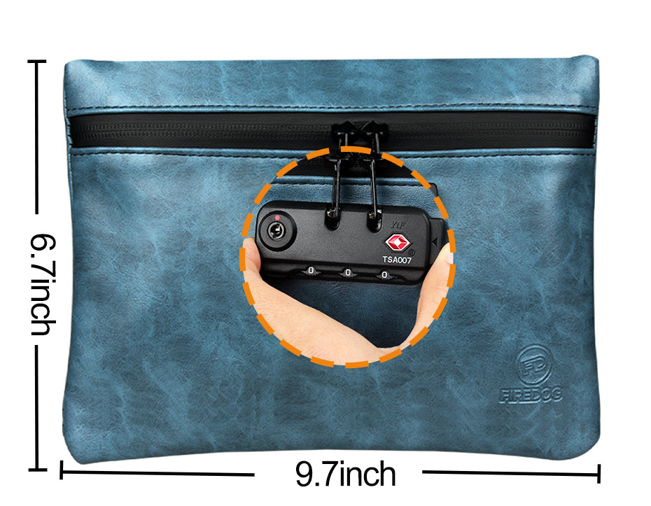 """Smell Proof Bag Tobacco Pouch with Lock Case Container 2"""" Herb Grinder Metal Rolling Tray 4x Doob Tube"""