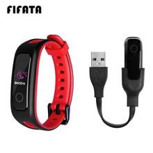 Fifata 2 em 1 silicone macio esporte relógio cinta + usb carregador de carregamento rápido doca para huawei banda 4e/3e/honor band 4 runing