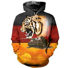 Liumaohua Tiger and Tank Funny 3D Printed Hoodies Clothes Men Fashion Sweatshirt / zip Hoodie Unisex Casual Pullovers(China)