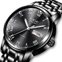 2020 LIGE New Wristwatch Mens Watches Waterproof Stainless Steel Quartz Watch Me
