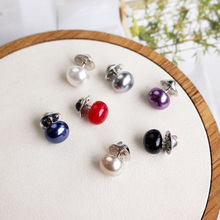 10pcs Button Brooch Imitation Pearl Circle Brooch Pins PU Button Trendy Metal Sweater Collar Hijab Pin Brooch Jewelry Accessorie japanese style green pea brooch gold color statement accessory sweater collar brooch pin sweater suit brooch 2019 fashion bkb72