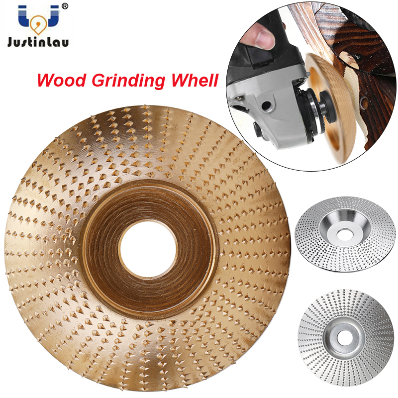 JUSTINLAU 4 Inch Extreme Shaping Disc Tungsten Carbide Wood Sanding Carving Tool Abrasive Disc Tools For Angle Grinder