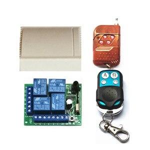 Image 1 - Interruptor de control remoto inalámbrico universal 433 Mhz módulo receptor por relé DC12V 4CH con control remoto RF de 4 canales 433 Mhz1527 lea