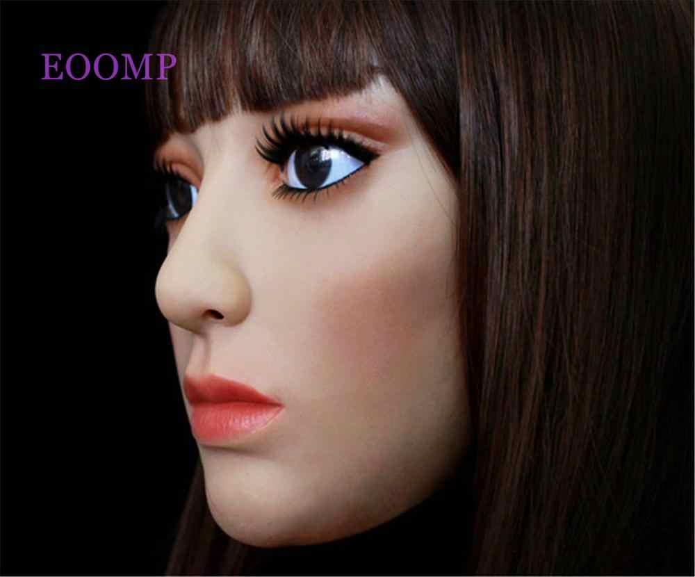 หญิงหน้ากากซิลิโคนสำหรับ Transgender Crossdress Mask: หน้ากากฮาโลวีนหน้ากาก Masquerade หน้ากากสำหรับลาก Queen