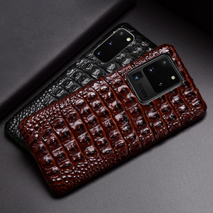 Image 3 - Leather Phone Case For Samsung S20 Ultra S10 S10e S9 S8 S7 Note 8 9 10 20 Plus A20 A30 A50 A70 A51 A71 A8 Crocodile Back Texture