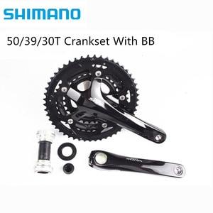 Shimano Sora 3503 170mm Triple Crankset Bike Bicycle 3x9 Speed Crankset 50/39/30 Teeth With BB Original Shimano 27s(China)