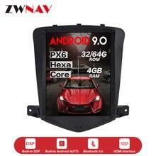 Pantalla vertical DSP estilo Tesla Android 9,0 reproductor multimedia de coche para Chevrolet CRUZE 2008-2012 GPS audio radio Unidad Principal