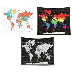 150X130 Cm akwarela mapa świata gobelin mapa ściany wiszące artysta zagłówek sypialnia salon dekoracja akademika w Dekoracyjne gobeliny od Dom i ogród na