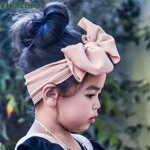New Spring Autumn Bowknot Baby Hat Soft Elastic Headband Newborn Baby Girls Hat Kids Cap Scarf Bonnet Girls Hat Knit Girls Caps