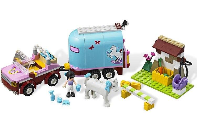 BELA10161 Emma's Horse Trailer Figures Compatible Legoinglys 3186 Girls Friends Playmobil Building Blocks Bricks Toys