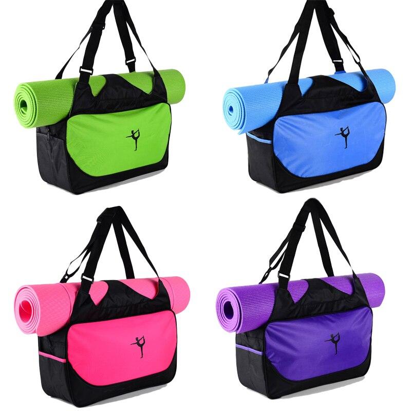 48*24*16cm High-capacity Yoga Mat Backpack Canvas Waterproof Yoga Bag Sports Fitness Bags (No Yoga Mat)