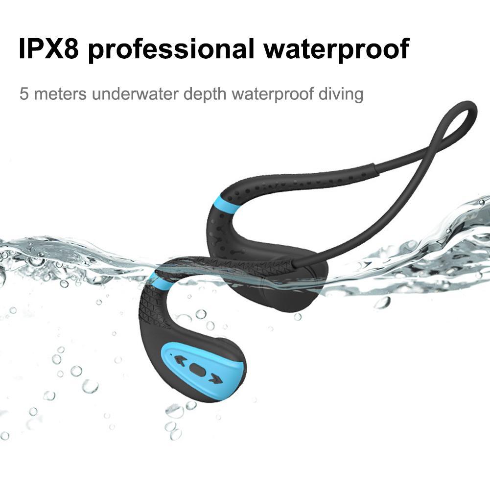 Bone Conduction Bluetooth 5.0 Headset Stereo Level 8 Waterproof Sports Swimming Running Wireless Headphone Mic Handsfree Headset on AliExpress 11