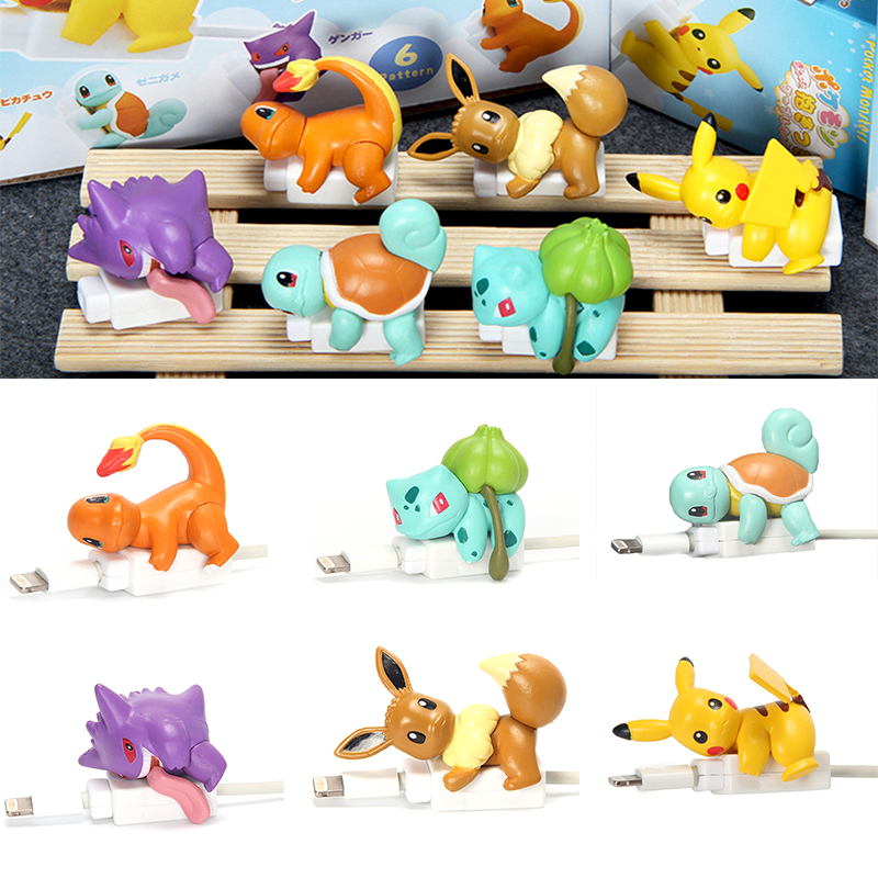 Cool Stuff Wire Pokemoner Cable Bite Protector Protege For Android Iphone Anime Cable Charging Cord Buddies Holder Accessory