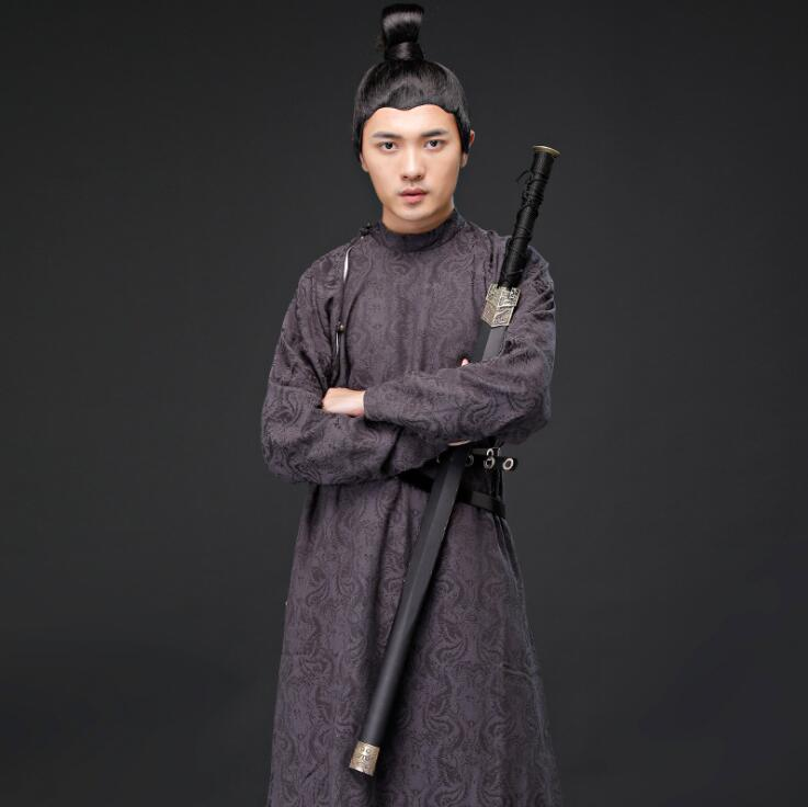 Men's Casual Formal Martial Arts Cosplay Cotton Hemp Hanfu Troupe Of Tang Dynasty Performance Stage Ancient Film TV Stage Suits