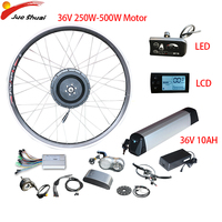 Duty Free Clearance 36V 250W 500W Electric Bike Conversion Kit 10ah 2026700C Wheel Hub Motor LED LCD Ebike Bicicleta Eletrica