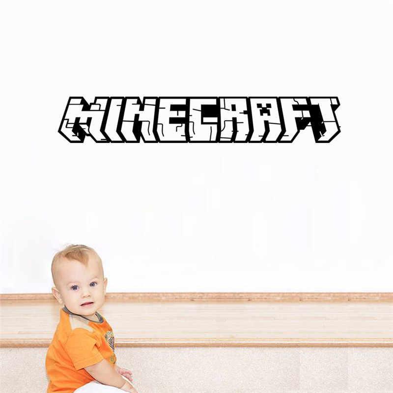 Kartun 3D Permainan Steve Stiker Dinding MC Creeper Stiker Anak-anak Hadiah Stiker Dinding untuk Kamar Anak-anak