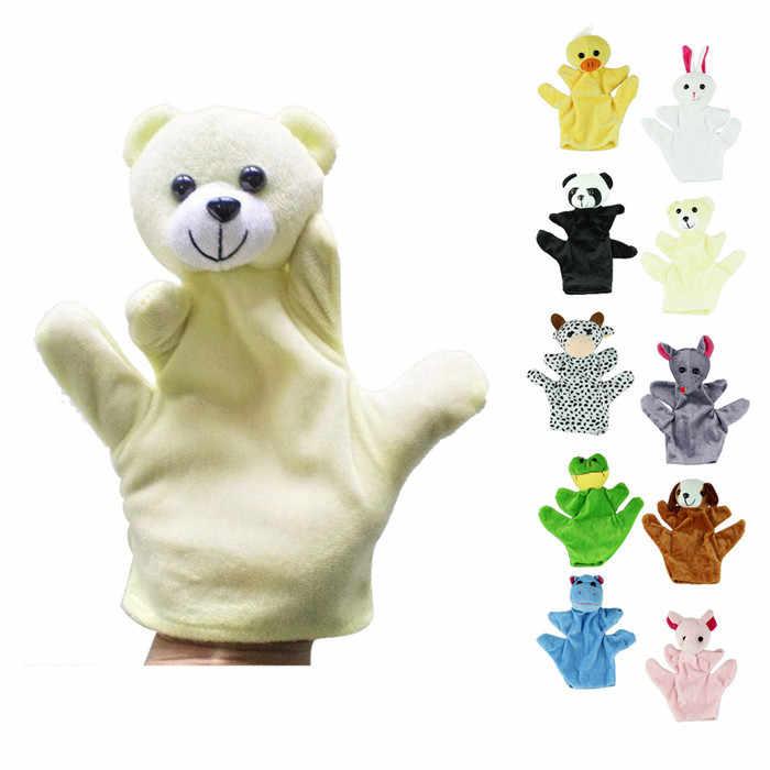 Fingerpuppen Dino Marionnette Bebe ถุงเท้าถุงมือมือ Puppet เด็กทารกสวนสัตว์มือสัตว์เลี้ยงถุงมือมือ Puppet Finger ถุงของเล่น Plush #