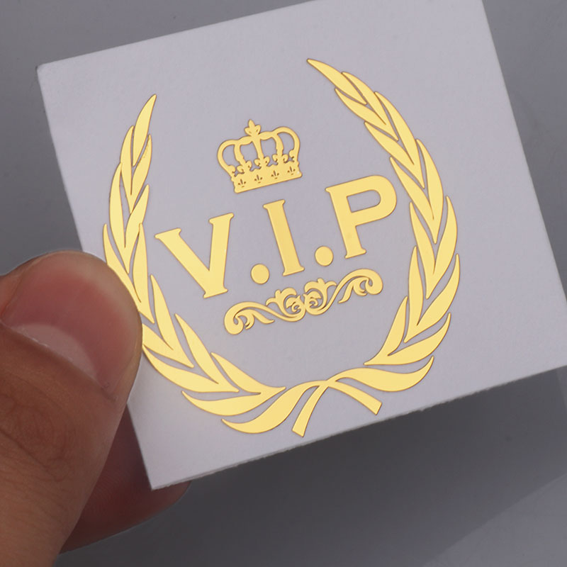 Three Ratels Car Styling 3D Metal Nickel VIP Crown Emblem Metal Sticker For Phone Auto Products Gold Honorable Ornament Decals