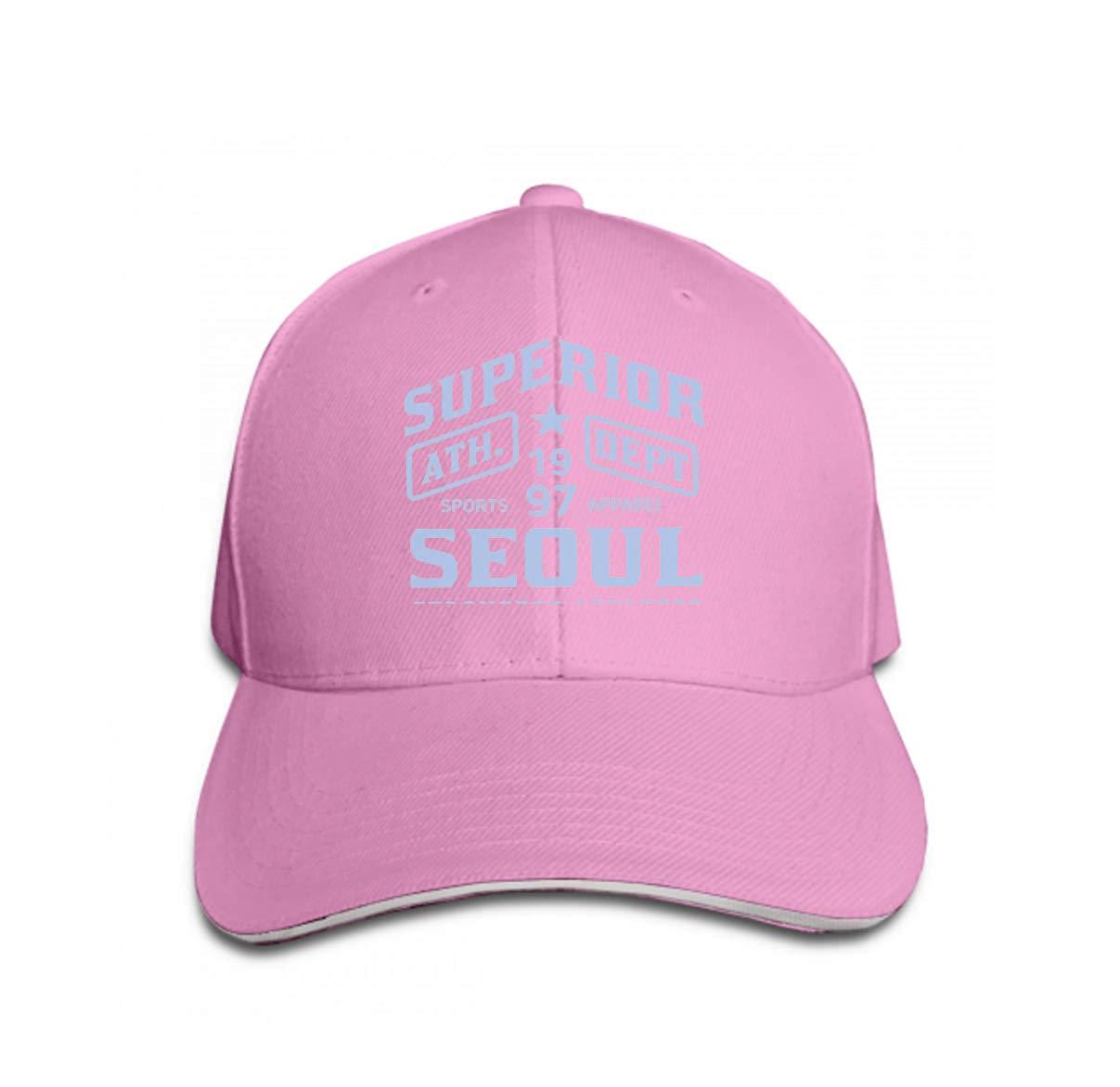 Unisex Baseball Caps Adjustable Plain Dad Hat Sun Cap Seoul Sport Design College Team Style Typography Poster Print